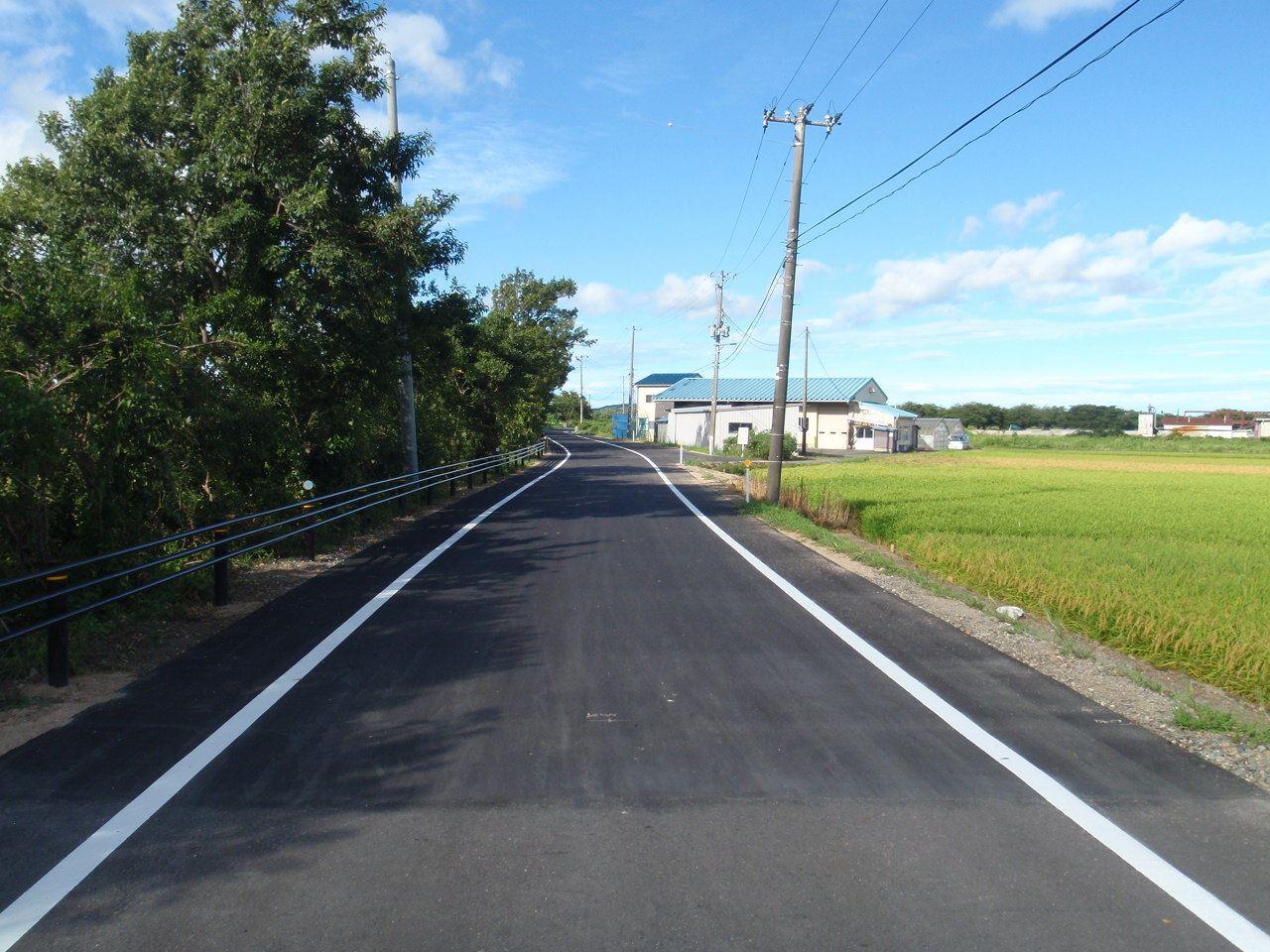 一般県道五泉安田線 県単道路改築 保田拡幅道路改良工事