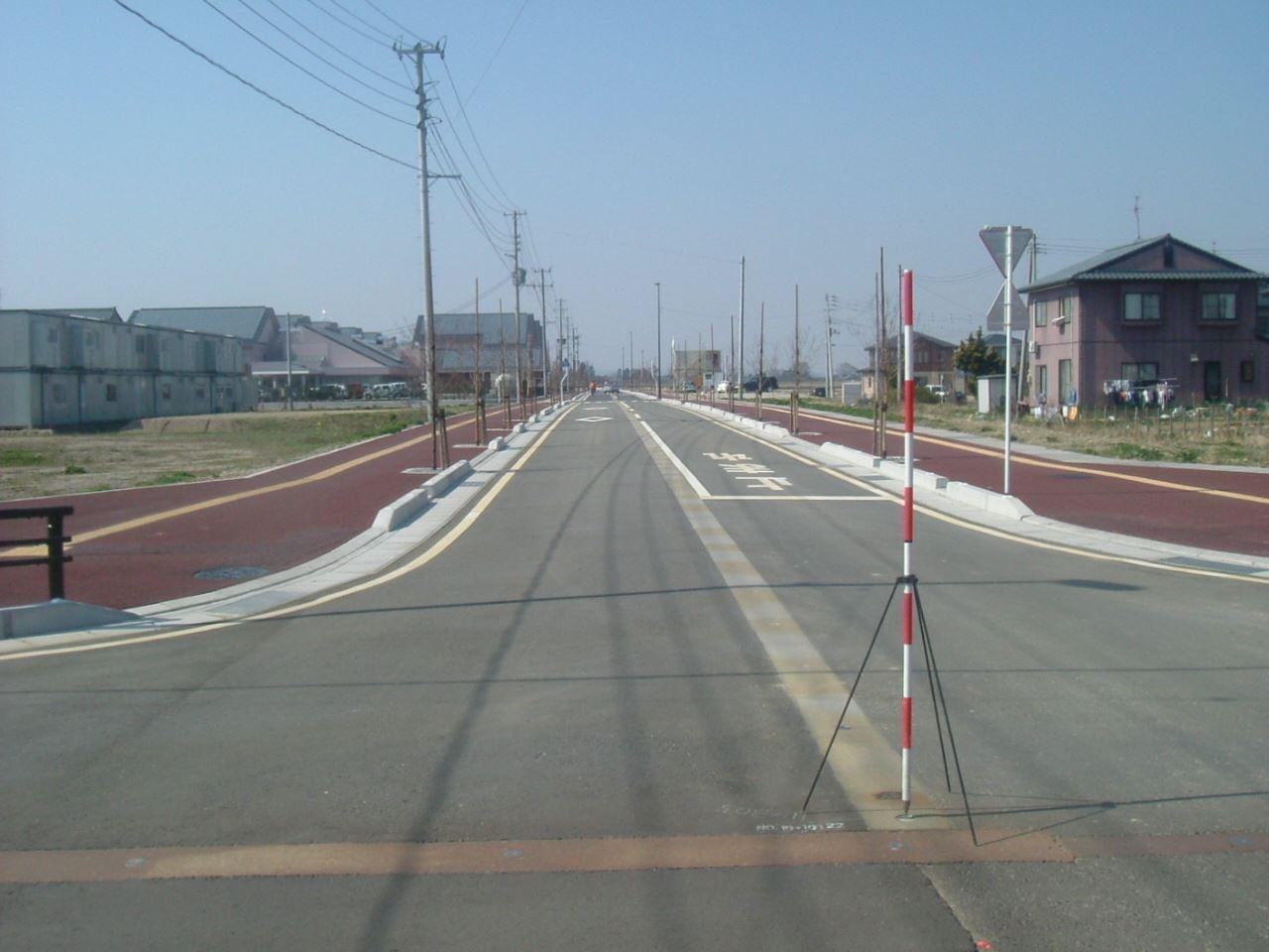 若葉町安野川線道路改良(その3)工事